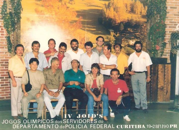 IV JOIDS - 1990 CURITIBA Alguns dirigentes com o Presidente da Ansef Nacional Alberto Cascais Meleiros